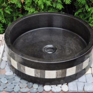 InduStone umywalka kamienna nablatowa MO-P black