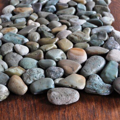 InduStone Mozaika Kamienna na siatce GREEN Interlock zielone otoczaki 30×30 (11)