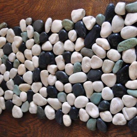 InduStone Mozaika Kamienna na siatce MIX 3 GREEN-WHITE-BLACK Interlock zielono biało czarne otoczaki 30×30 (13)
