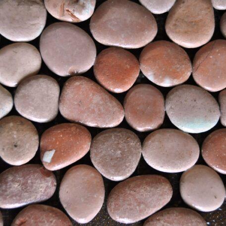 InduStone Mozaika Kamienna na siatce PINK Interlock różowe otoczaki 30×30 (10)