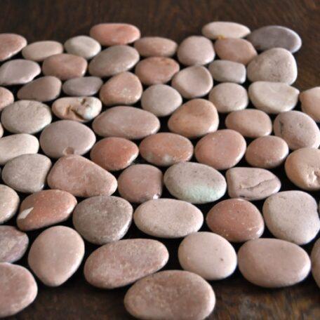 InduStone Mozaika Kamienna na siatce PINK Interlock różowe otoczaki 30×30 (12)