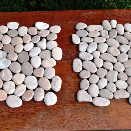InduStone Mozaika Kamienna na siatce PINK Interlock różowe otoczaki 30×30 (14)
