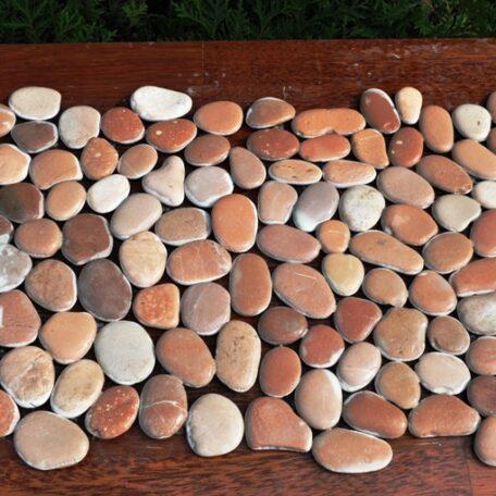 InduStone Mozaika Kamienna na siatce PINK Interlock różowe otoczaki 30×30 (3)