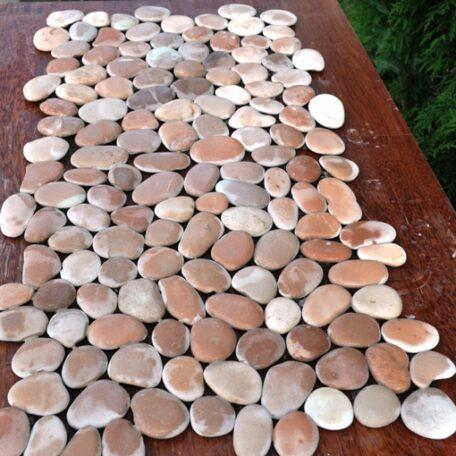 InduStone Mozaika Kamienna na siatce PINK Interlock różowe otoczaki 30×30 (6)