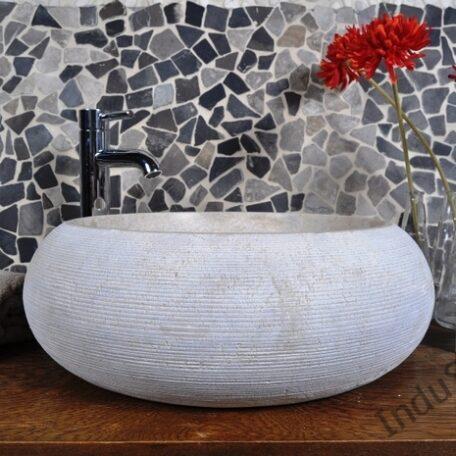 InduStone umywalka kamienna nablatowa DN-G Cream B (3)