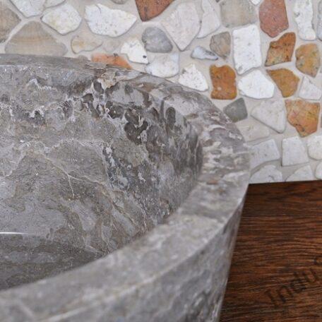 InduStone umywalka kamienna nablatowa GARUDA Grey B (3)