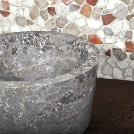InduStone umywalka kamienna nablatowa GARUDA Grey B (4)