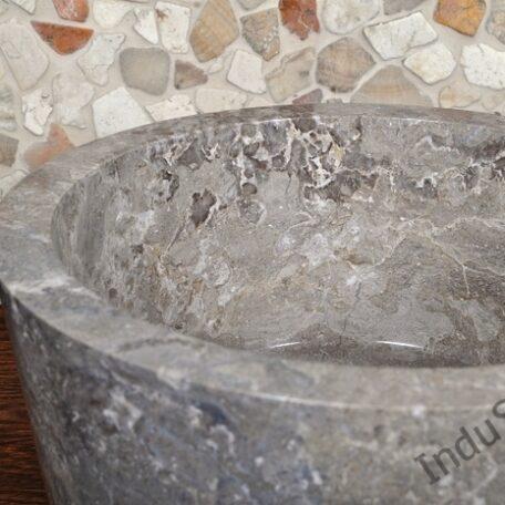 InduStone umywalka kamienna nablatowa GARUDA Grey B (5)