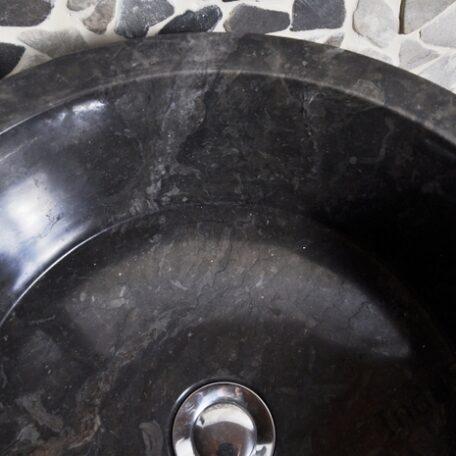 InduStone umywalka kamienna nablatowa LY-D black (6)