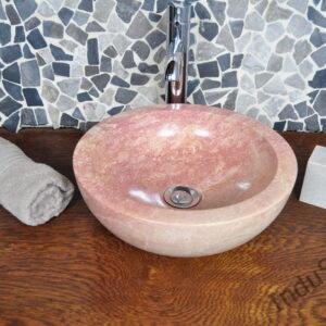 InduStone umywalka kamienna nablatowa KC-P red 35×12 B