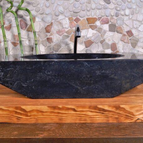 ROV-P Black Industone kamienna umywalka