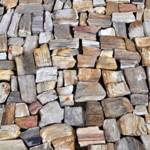 InduStone Mozaika Kamienna na siatce FOSSIL WOOD STONE skamieniałe drewno 30×30