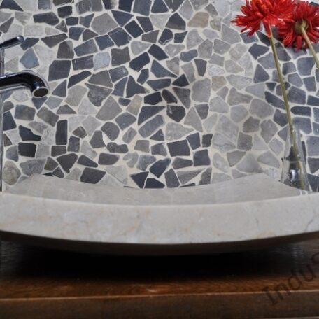InduStone umywalka kamienna KWADRATOWA BEIGE A (8)