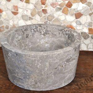 InduStone umywalka kamienna nablatowa GARUDA Grey C
