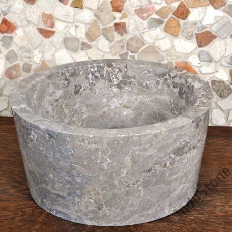 InduStone umywalka kamienna nablatowa GARUDA Grey C (2)