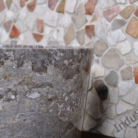InduStone umywalka kamienna nablatowa GARUDA Grey C (3)