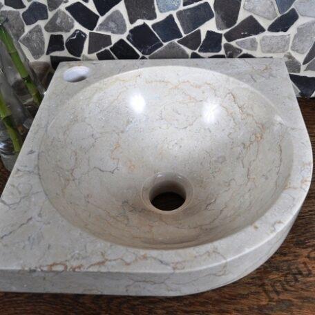 InduStone umywalka nablatowa kamienna FB-P CORNER cream 30 cm (1)