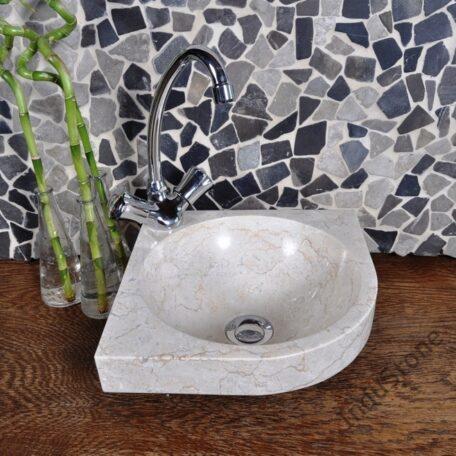 InduStone umywalka nablatowa kamienna FB-P CORNER cream 30 cm (3)