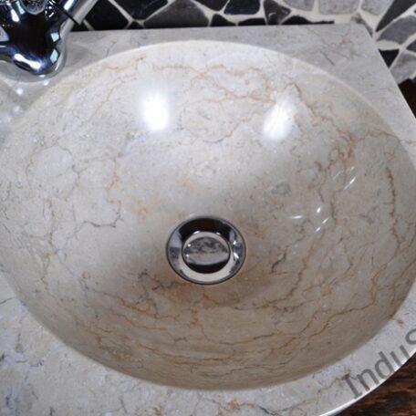 InduStone umywalka nablatowa kamienna FB-P CORNER cream 30 cm (5)