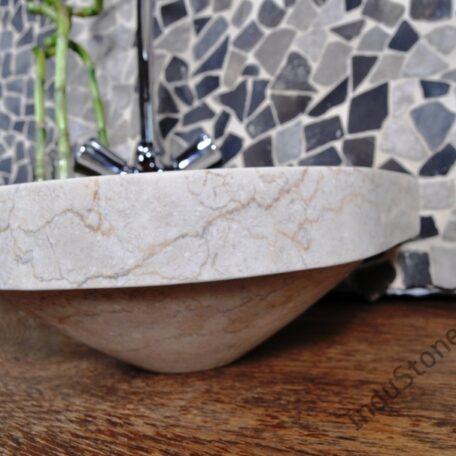 InduStone umywalka nablatowa kamienna FB-P CORNER cream 30 cm (6)