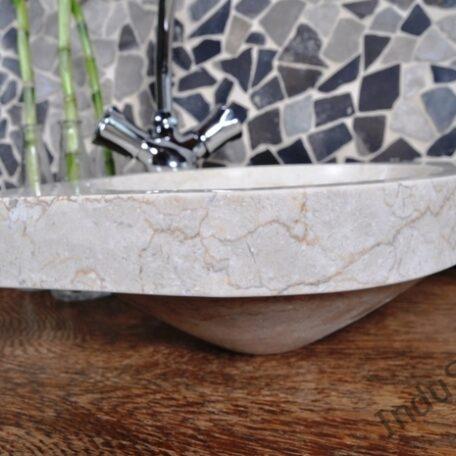 InduStone umywalka nablatowa kamienna FB-P CORNER cream 30 cm (7)