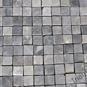 InduStone Mozaika Kamienna na siatce GREY GLOSSY SQUARE szara kostka 2×2