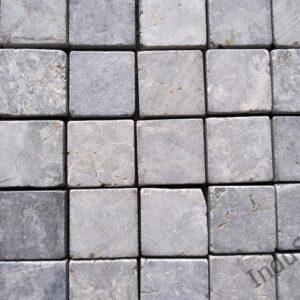 InduStone Mozaika Kamienna na siatce TAN GREY SQUARE szara kostka 5×5