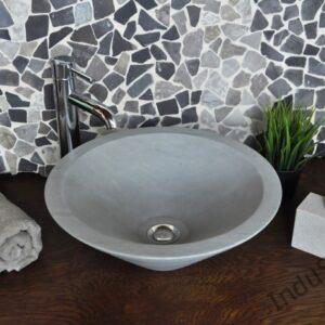 InduStone umywalka kamienna nablatowa KRUCUT GREEN