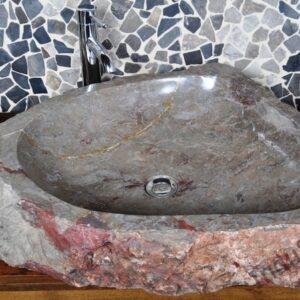 InduStone umywalka kamienna nablatowa EROSI Stone B
