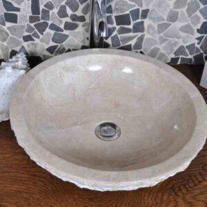 InduStone umywalka kamienna nablatowa KC-M cream 45 cm B