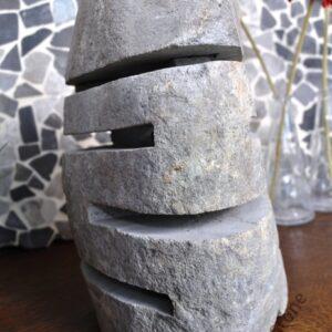 InduStone lampa ogrodowa z kamienia rzecznego RIVER STONE mała D