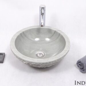 InduStone kamienna umywalka nablatowa KC-M GREEN A 40