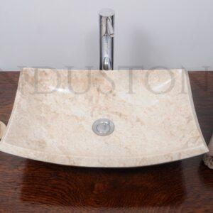 InduStone kamienna umywalka nablatowa KOTAKA BABY P CREAM B 50x35x14