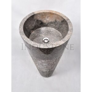 InduStone kamienna umywalka stojąca PAG-G GREY N 40×90 cm