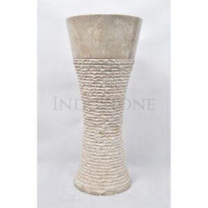 InduStone kamienna umywalka stojąca PD CREAM N 40×90 cm