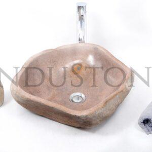 InduStone kamienna umywalka nablatowa RIVER STONE RSB1 S