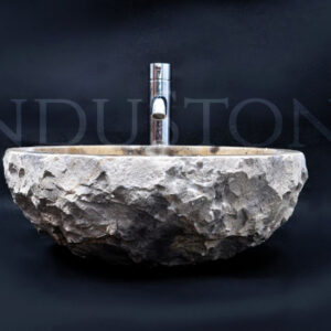 InduStone kamienna umywalka nablatowa KC-FMA JAVA BROWN