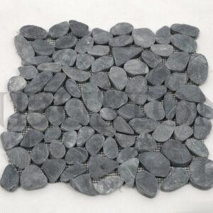 InduStone Mozaika kamienna BLACK SLICE INTERLOCK czarne CIĘTE OTOCZAKI