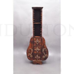 InduStone STOJAK GITARA na płyty CD z drewna egzotycznego