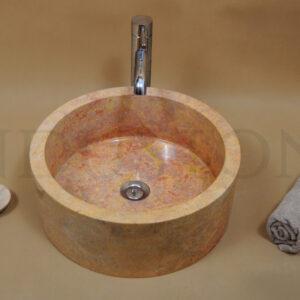 InduStone kamienna umywalka nablatowa SLP RED B 40×15 cm