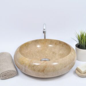 DN-P BROWN J 40 cm kamienna umywalka nablatowa INDUSTONE