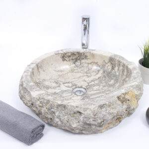 EROSI Grey L kamienna umywalka nablatowa INDUSTONE