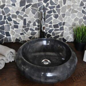 InduStone kamienna umywalka nablatowa DN-P black