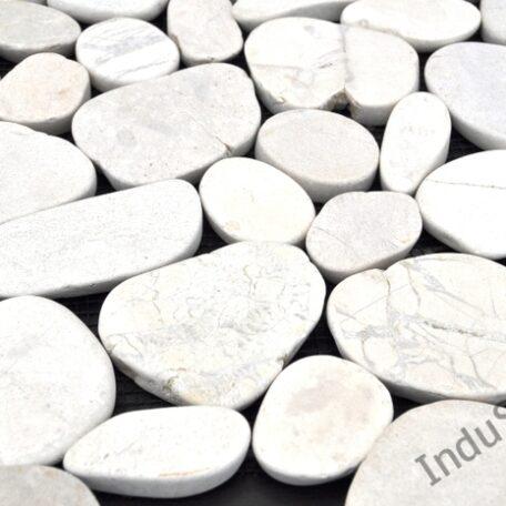 INDUSTONE MOZAIKA KAMIENNA CUTTING WHITE INTERLOCK BIAŁE CIĘTE OTOCZAKI 30×30 (5)