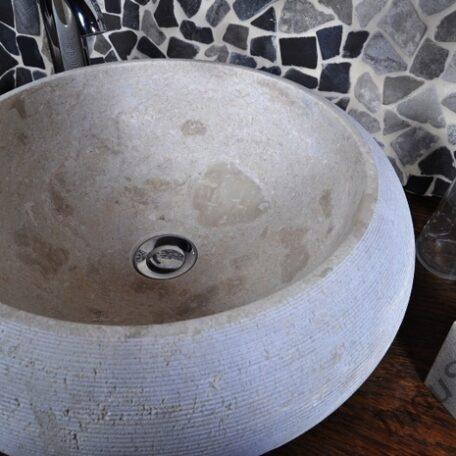 InduStone umywalka kamienna nablatowa DN-G Cream B (1)