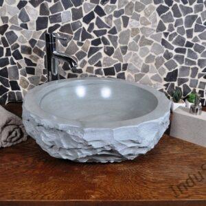 InduStone umywalka kamienna nablatowa KC-FMA green B