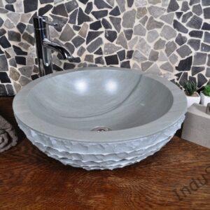InduStone umywalka kamienna nablatowa KC-M green 40 cm B