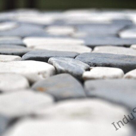 InduStone Mozaika Kamienna GREY & WHITE SQUARE szaro biała łamana 30×30  (1)