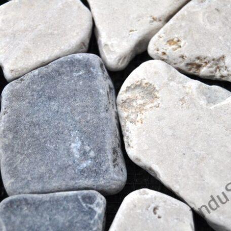 InduStone Mozaika Kamienna GREY & WHITE SQUARE szaro biała łamana 30×30  (2)