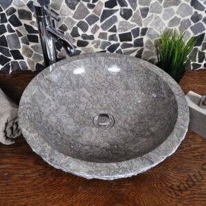 InduStone kamienna umywalka nablatowa KC-M light grey 45 cm B